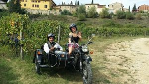 Vintage sidecar tour in florence and chianti with De Gustibus wine and food tours