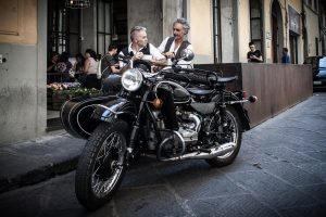 Florence sidecar tour - breakfast at le menagere with drivers gilberto and riccardo
