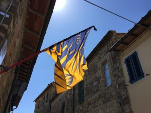 Flag of a historical district in Montalcino - De Gustibus Wine and Food Tours