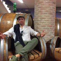 Barrell chair at Tornesi winery - Brunello di Montalcino wine tour with De Gustibus
