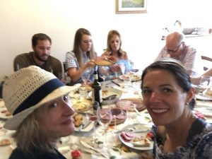 Lunch at Meriggio alle Falcole during a Chianti and Wine sidecar tour
