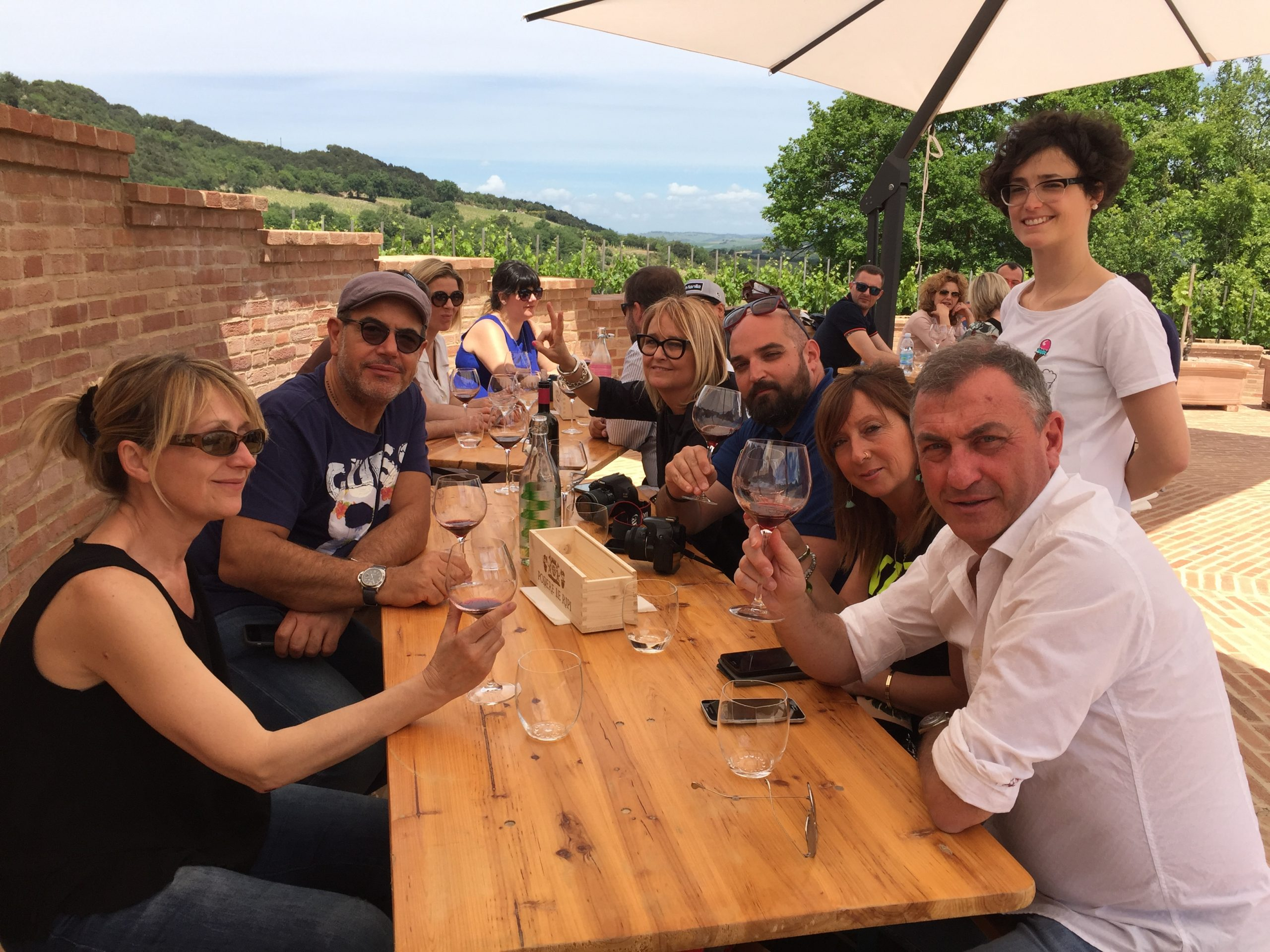 Brunello Wine Day at Podere Le Ripi with De Gustibus Wine and Food Tours