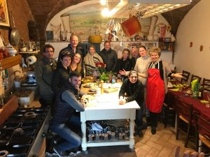 At the end of the truffle lunch in certaldo - de gustibus wine and food tours