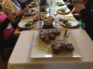 Chianina beef steak experience - we like tuscany - florentine beaf steak with De Gustibus Wine and Food Tours